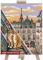 Картина по Номерам Коты на Крыше, фото 1