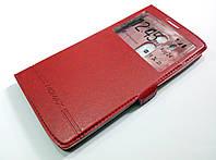 Чехол книжка с окошком momax для LG V10 красный