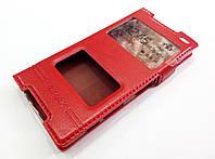 Чехол книжка с окошками momax для Sony Xperia Z5 compact e5823 красный