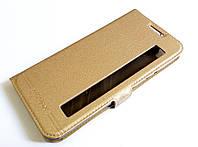 Чехол книжка с окошком momax для LG X Style K200DS золотой