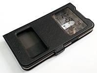 Чехол книжка с окошками momax для Meizu 15 черный