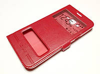 Чехол книжка с окошками momax для Samsung Galaxy J7 J700H (2015) / J7 Neo J701 красный