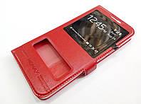 Чехол книжка с окошками momax для Meizu M1 Metal красный