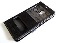 Чехол книжка с окошками momax для Meizu M3 / M3s черный