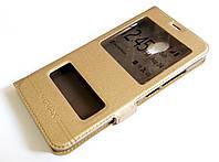 Чехол книжка с окошками momax для Meizu M3 / M3s золотой