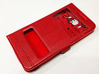 Чехол книжка с окошками momax для Samsung Galaxy J7 J710 (2016) красный