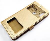 Чехол книжка с окошками momax для Xiaomi Mi 8 Pro золотой