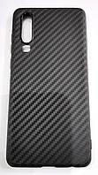 Чехол для Huawei P30 силиконовый карбон