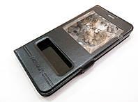 Чехол книжка с окошками momax для Meizu M5 черный