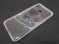 Чехол для Samsung Galaxy A6s SM-G6200 силиконовый прозрачный с матовым ободком