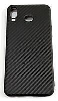 Чехол для Samsung Galaxy A6s SM-G6200 силиконовый карбон