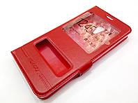 Чехол книжка с окошками momax для Meizu M5s красный