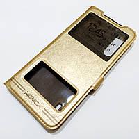 Чехол книжка с окошками Momax для Xiaomi Mi 9 Lite / Xiaomi Mi CC9 / Mi A3 lite Золотистый