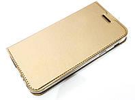 Чехол книжка KiwiS для Samsung Galaxy A7 a720 (2017) золотой