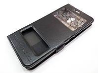 Чехол книжка с окошками momax для Meizu MX6 черный