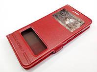 Чехол книжка с окошками momax для Meizu MX6 красный