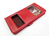 Чехол книжка с окошками momax для Meizu Pro 6 красный
