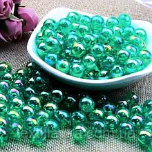Бусины стекло с гальваническим покрытием
