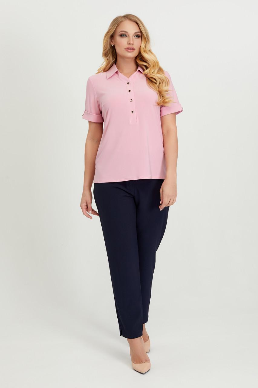 Блуза Ира розовая 58