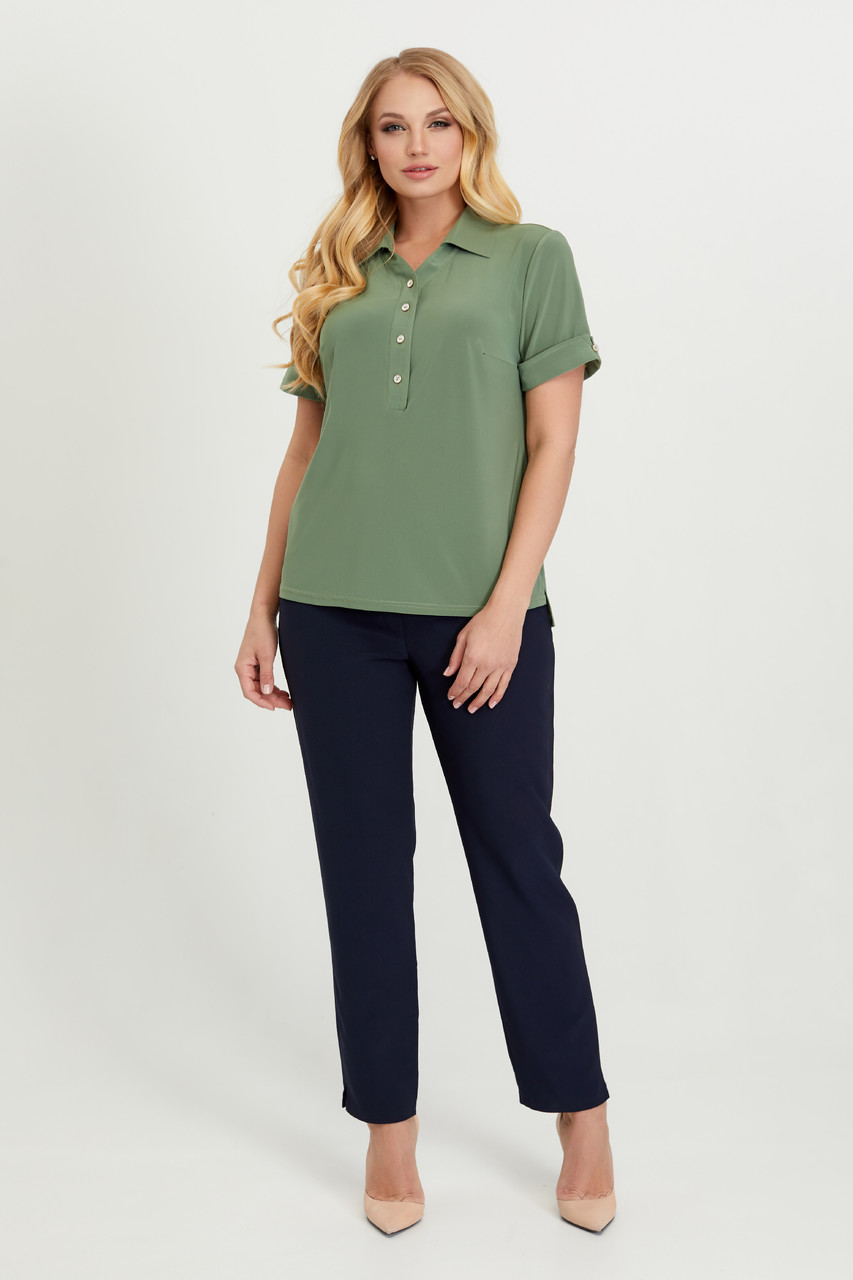 Блуза Ира оливковая 52