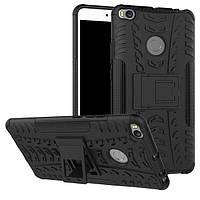 Чехол бампер противоударный бронированный TOTO Dazzle kickstand для Xiaomi Mi Max 2 черный