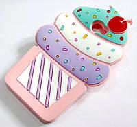 Чехол детский для Huawei Y5 II / Y5-2 / Y5 2 (cun-u29) силиконовый объемный игрушка мороженое