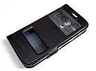 Чехол книжка с окошками momax для Motorola Moto G X1032 1st. gen. (2013) черный