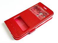 Чехол книжка с окошками momax для Motorola Moto G X1032 1st. gen. (2013) красный