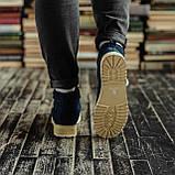 Мужские зимние ботинки South Navy Blue. Натуральная замша и мех. Премиум качество, фото 4