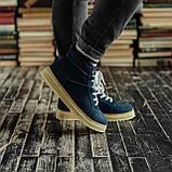 Мужские зимние ботинки South Navy Blue. Натуральная замша и мех. Премиум качество, фото 7