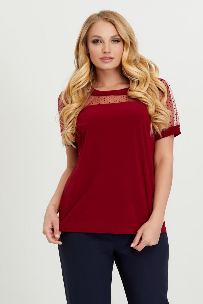 Блуза марсала Люся 52