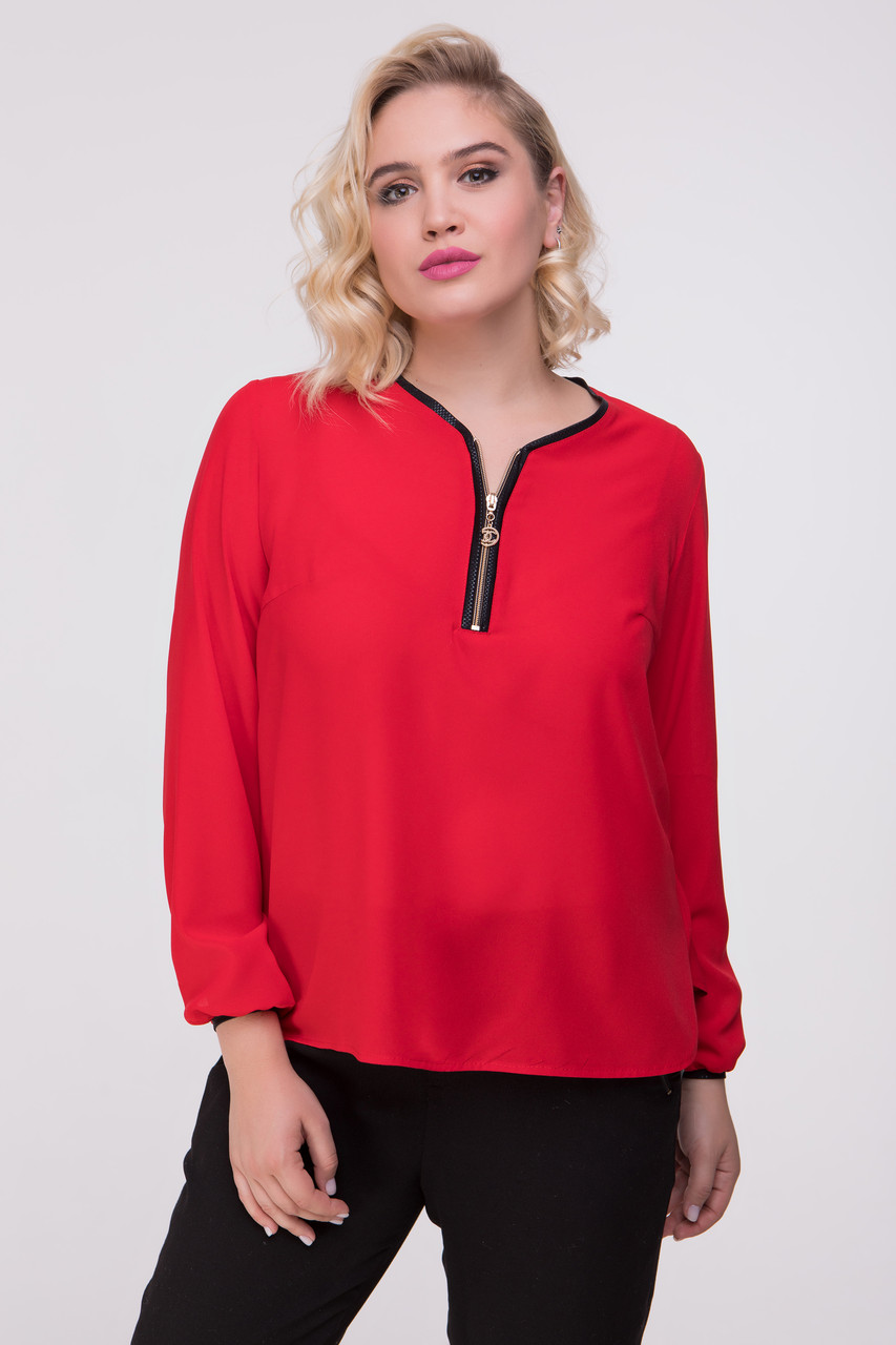 Блуза красная Инга 48