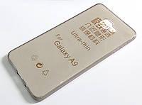 Чехол для Samsung Galaxy A9 A9000 (2016) силиконовый ультратонкий прозрачный серый