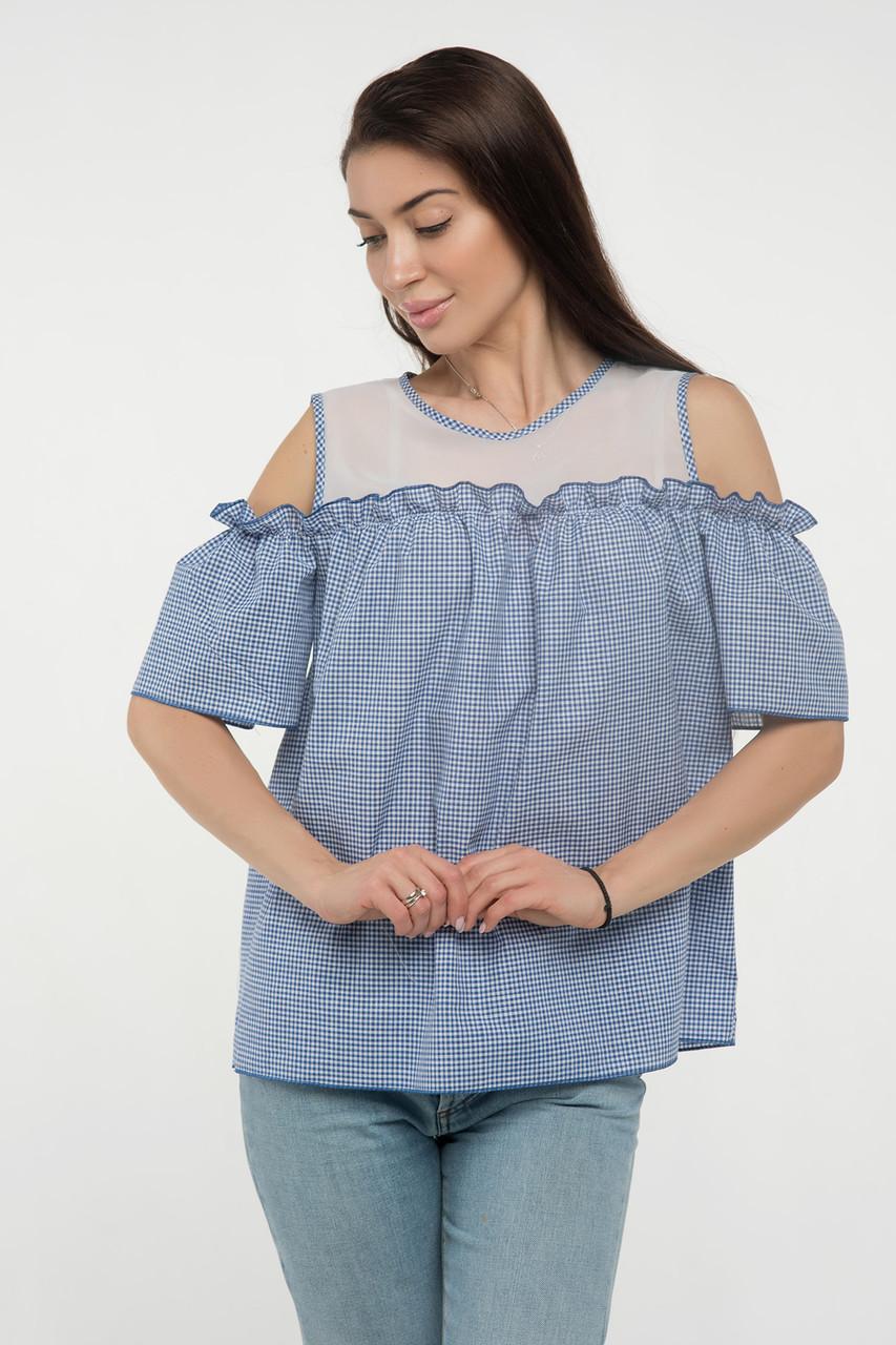 Блуза синяя Ася 42
