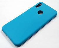 Чехол Silicone Cover для Huawei Y6 2019 голубой