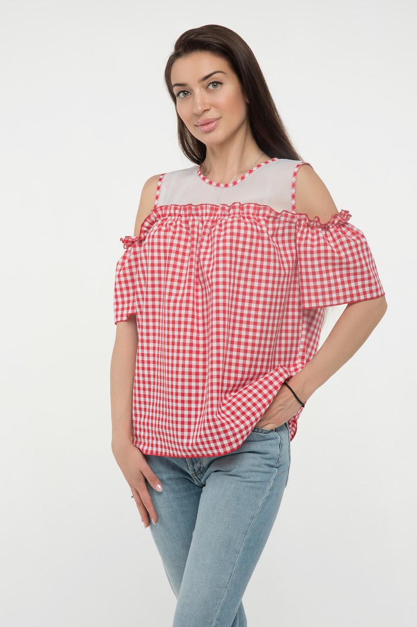 Блуза красная Ася 42