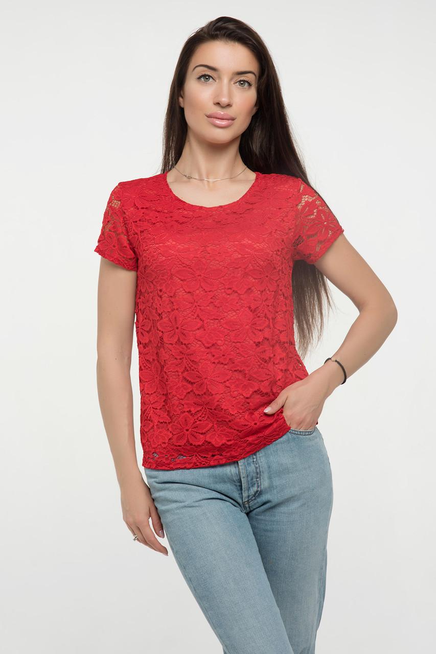 Блузка красная Богдана 44