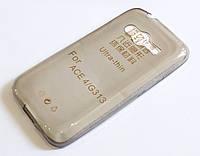 Чехол для Samsung Galaxy Ace 4 G313 силиконовый ультратонкий прозрачный серый