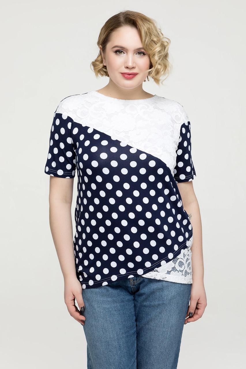 Блуза белая Нина 48