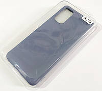 Чехол для Samsung Galaxy S20 G980 матовый Silicone Case Full Cover Macarons Color
