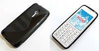 Чехол для Nokia 230 силиконовый волна черный