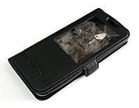 Чехол книжка с окошком Momax для Nokia 230 черный