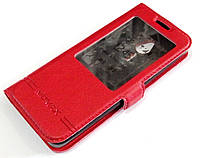 Чехол книжка с окошком Momax для Nokia 230 красный