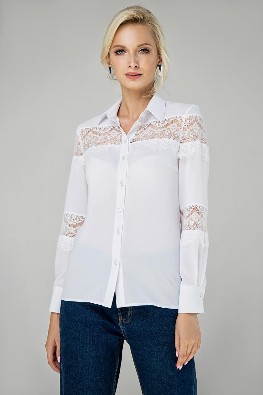 Блуза белая Маргарита 44