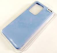 Чехол для Samsung Galaxy S20 Ultra G988 матовый Silicone Case Full Cover Macarons Color Голубой