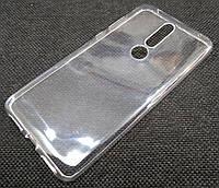 Чехол для Nokia 3.1 Plus силиконовый прозрачный
