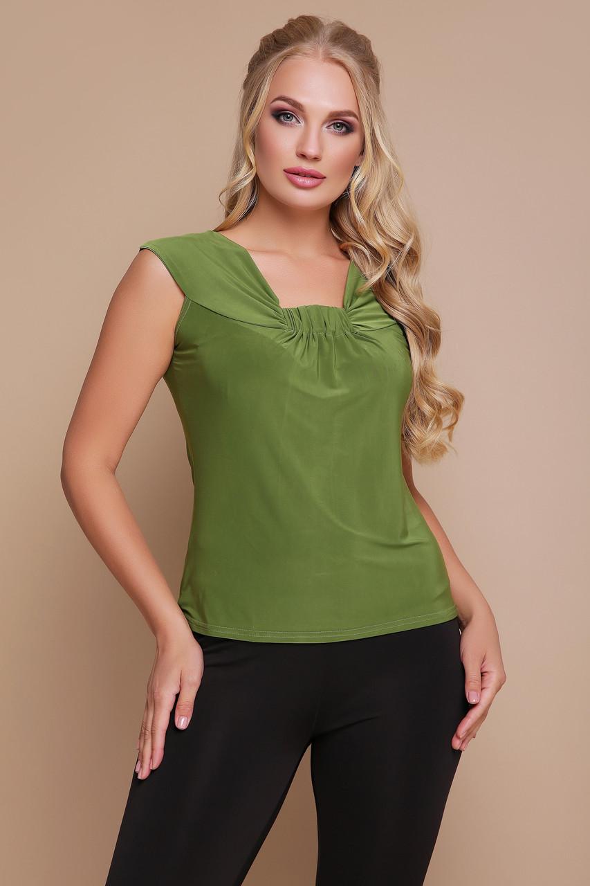 Блуза оливковая Стрекоза 48