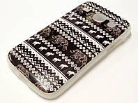 Чехол силиконовый с рисунком слоники орнамент для Samsung Galaxy Core i8260 / i8262