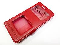 Чехол книжка с окошками momax для Xiaomi Redmi 4A красный