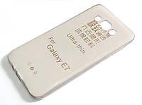 Чехол для Samsung Galaxy E7 E700H силиконовый ультратонкий прозрачный серый